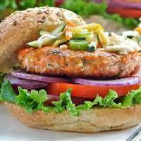 Salmon dill burger