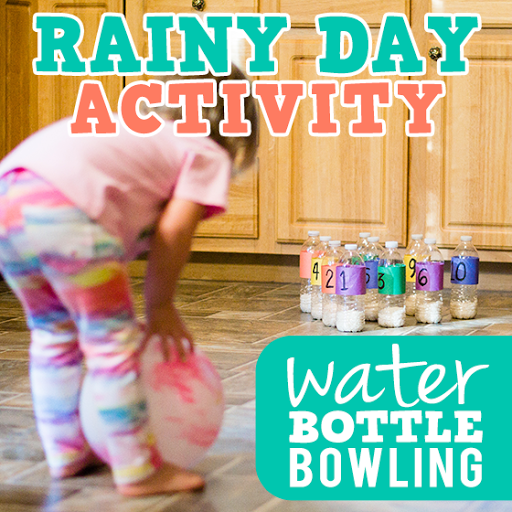 Rainy Day Activity: Water Bottle Bowling